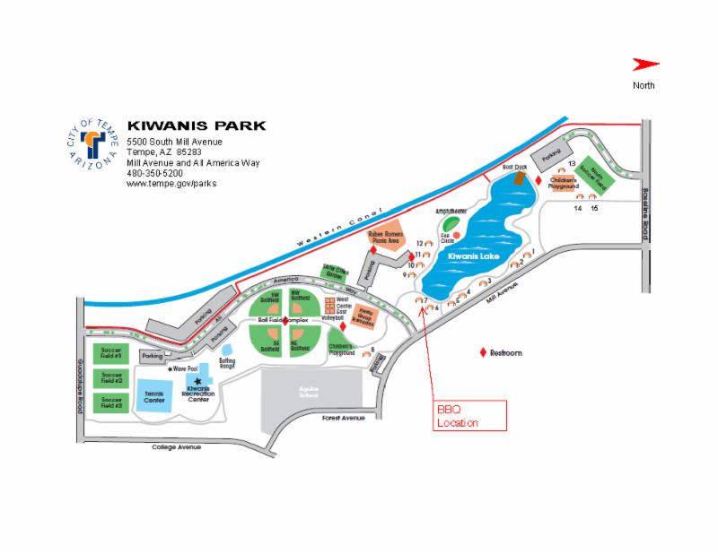 Kiwanis Park FIELD Map